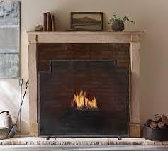 Unique fireplace screens Iron Flynt Zinc Single Fireplace Screen Flynt Zinc Single Fireplace Screen Pottery Barn Fireplace Screens Fireplace Doors Fireplace Covers Pottery Barn