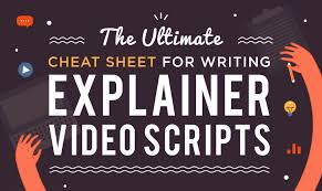 Explainer Video Script Cheatsheet Infographic