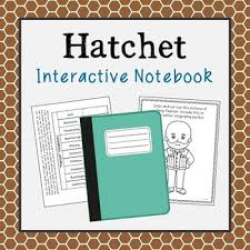 hatchet by gary paulsen interactive notebook includes vocabulary  hatchet by gary paulsen interactive notebook includes vocabulary terms author biography and chapter