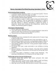 Cover Letter Sample Resume Cna Sample Resume Cna No Previous