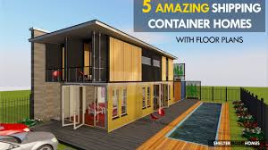 House Designs Using Shipping Containers The 5 Most Amazing Shipping Container House Designs With Floor Plans Sheltermode