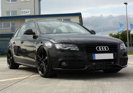 black audi a4. audi a4 avant received a tuning package from the german tuner avus performance called black arrow is painted in gloss finish and powered by