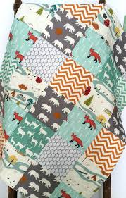 woodland animal baby bedding baby boy quilt gender neutral patchwork fox bear camping woodland woodland animal nursery bedding uk