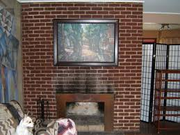 mid century modern fireplace design with paint