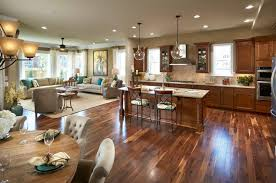 traditional open kitchen designs. Kitchen Farmhouse Open Concept Designs Traditional With Cush Living Room N