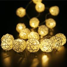 Warm White Light String Rattan Ball String Lights Globe Fairy Light Battery Powered 8ft 20 Led Indoor Outdoor Warm White Light For Party Wedding Buy Rattan Ball String
