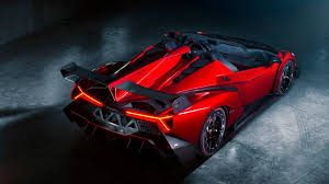 lamborghini veneno roadster wallpaper. lamborghini veneno roadster supercar red spoiler wallpaper i