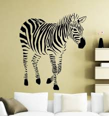 african jungle animals wall stickers zebra cool silhouette art deisgned vinyl wall murals home livingroom special on jungle animal wall art with african jungle animals wall stickers zebra cool silhouette art