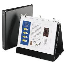 Easel Presentation Durable Binder With Round Rings 3 Rings
