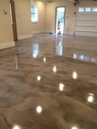 gray white epoxy metallic floor prettiest garage floor ever