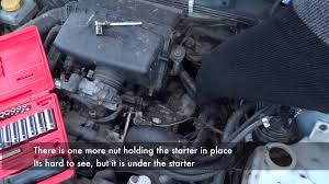 subaru forester starter removal and replacement subaru forester starter removal and replacement