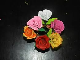 How To Make Rose Flower With Tissue Paper Creative Diy Crafts Recycled Diy Rose Flowers Made With