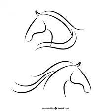 ferrari horse outline. horse heads outlines ferrari outline