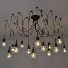black modern chandeliers. 14 Swag Chandelier BLACK Modern Lighting Industrial Hanging Pendants Rustic Ceiling Fixture Loft Bar Restaurant Black Chandeliers A