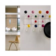 Coloured Ball Coat Rack Eames Inspired Hang It All White With MultiColoured Balls House 22