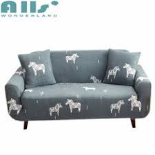 sofa cover stretch seat covers elastic sofa towel for living room grey color cartoon