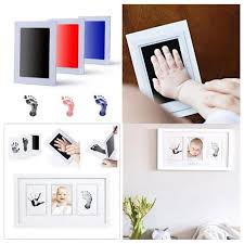 clean touch ink pad hand footprint makers baby souvenirs baby handprint footprint photo frame kit hand makers graduation keepsake baby