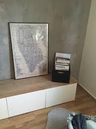 Ikea Besta Hack Cubes Wei Mit Echtholz Eiche Platte Rustikal
