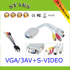 compare prices on pc av cable online shopping buy low price pc av whole pc computer vga to tv s video 4pin 3 rca av adapter