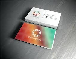 Double Sided Business Card Template Illustrator Cool Free Two Cards