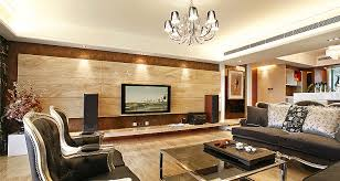 wood paneling entertainment wall lounge interior design