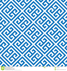 Grecian Key Design Greek Key Seamless Pattern Background In Blue And White