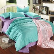 luxury purple turquoise bedding set king size blue green duvet cover sheet queen double bed in a bag quilt doona linen bedsheets bedlinens linens double
