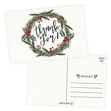Amazon Com 25 4x6 Blank Christmas Holiday Thank You Postcards Bulk