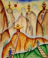 xul solar paisaje cinco pagodas by alejandro xul solar on artnet
