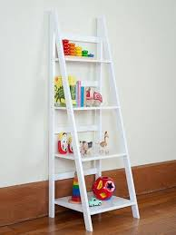 Ladder Shelf White or Black-ladder shelf mocka, storage bookcase, childrens  furniture,