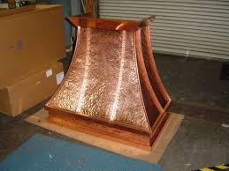 hammered copper range hood. Delighful Hood Custom Made Hand Hammered Copper Kitchen Hood To Range G