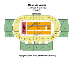 Magness Arena Seating Chart Concert
