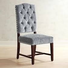 blue velvet dining chairs. Gray Velvet Dining Chair With Espresso Wood Pier 1 Imports Chairs Furniture Blue .