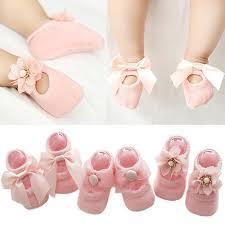 <b>3 Pairs</b>/<b>Lot</b> Lace Flower <b>Newborn Baby Socks Cotton</b> | Shopee ...