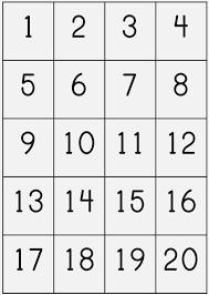 1 To 20 Number Chart Printable Bedowntowndaytona Com