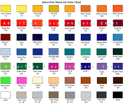 Jerzees Color Chart Stock Ink Color Chart Advertees Com