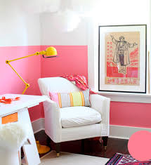 wall color for office. True Pink Half Wall Color For Office
