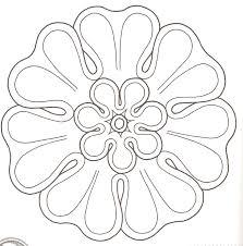 Antic Greek Motif Based Flower Outlinesmandalacoloring