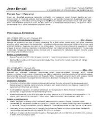Ideas of Sample Private Equity Resume Also Summary