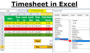 Timecard In Excel Timesheet In Excel Guide To Create Timesheet Calculator