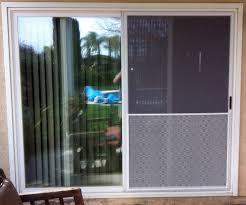 image of doggie door for aluminum screen door
