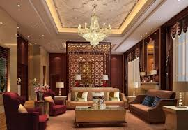 glamorous living room. interior:glamorous living room chandelier hung on cool ceiling above contemporary seating furniture glamorous