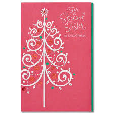 American Greetings Special Sister Christmas Card For Sister