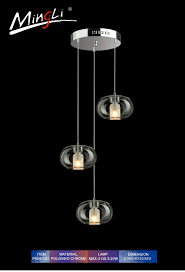 Modern Chrome Pendant Light P6547 3d China Populer Modern Pendant Lighting Ce Ul