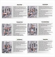 Body Blade Workout Chart Sample Exercise Chart 6 Documents In Pdf
