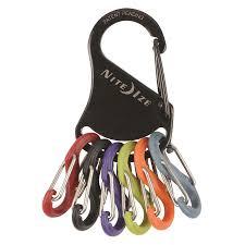 Nite Ize Keyrack- S-Biner- Black/Plastic S-Biners