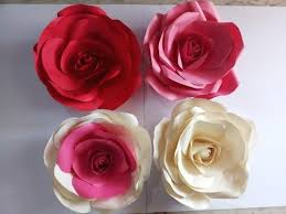 Buy Paper Flower Giant Big Paper Roses Various Types