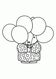 Nijntje Kleurplaat Miffy Coloring Pages Ballonnen Verjaardag Rabbit