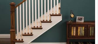 Metal railing stairs Elegant Craftsmanstyle Staircase In Natural Wood And White Wood Pinterest Stairs And Railings