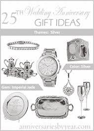 25th wedding anniversary 25th anniversary gift ideas